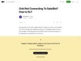 Fix Orbi satellite syncing error