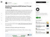 Advantages of using the mobile apps of ERP software for education