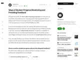 How to monitor student progress and provide adequate feedback?