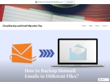 Backup Hotmail Emails to Different Files