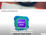 Top Recommended Methods to Backup Yahoo Email into Different Files