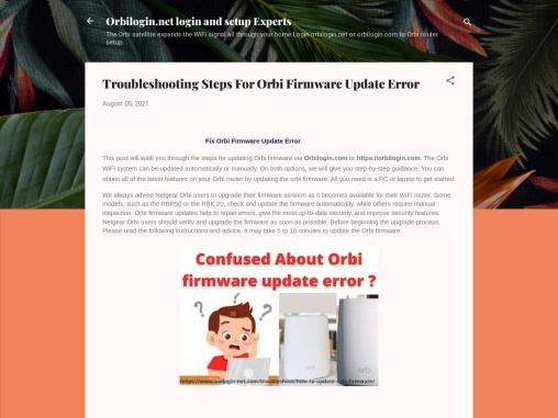 Fix orbi firmware update error