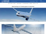 Air ticketing services – origin tours and travels