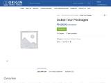Dubai tour packages- Origintoursandtravels