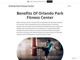 Benefits Of Orlando Park Fitness Center