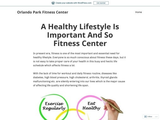 A Healthy Lifestyle Is Important And So Fitness Center