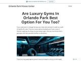 Are Luxury Gyms In Orlando Park Best Option For You Too?