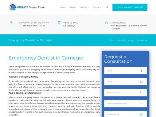 Emergency Dentist, Dental Clinic in Carnegie | Ornate Dental Clinic