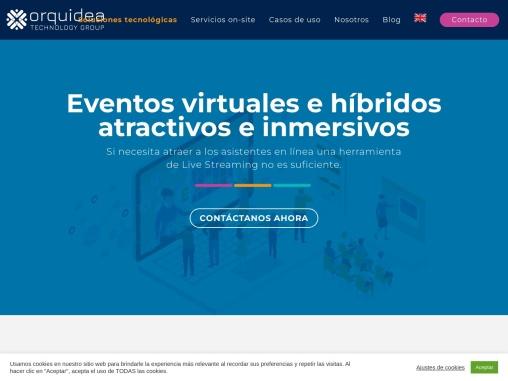 Eventos virtuales e híbridos | Orquideatech