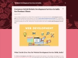 Affordable Website Development Services in India