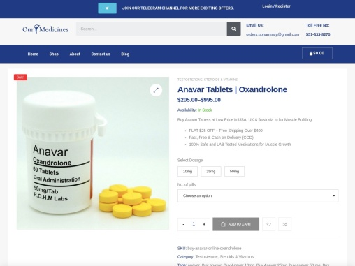 Buy Anavar Online | Anavar (Oxandrolone) For Sale Online | OurMedicnes