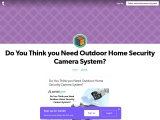 Do You Think you Need Outdoor Home Security Camera System?