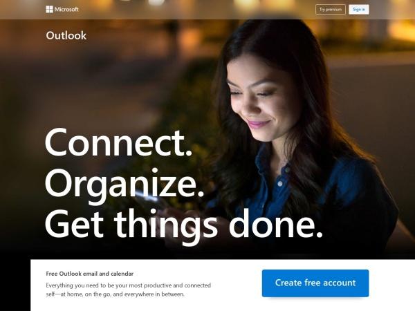 Outlook - 10 Best Gmail Alternatives 2020