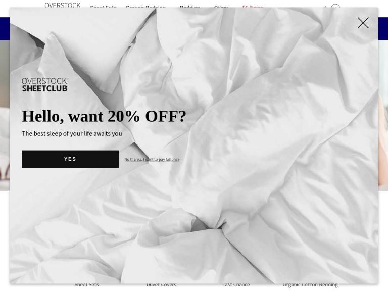 Overstock Sheet Club screenshot