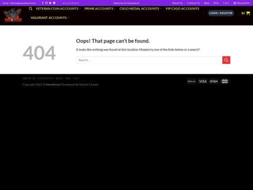 Buy CSGO SMFC non prime Account from Ownasmurf.com