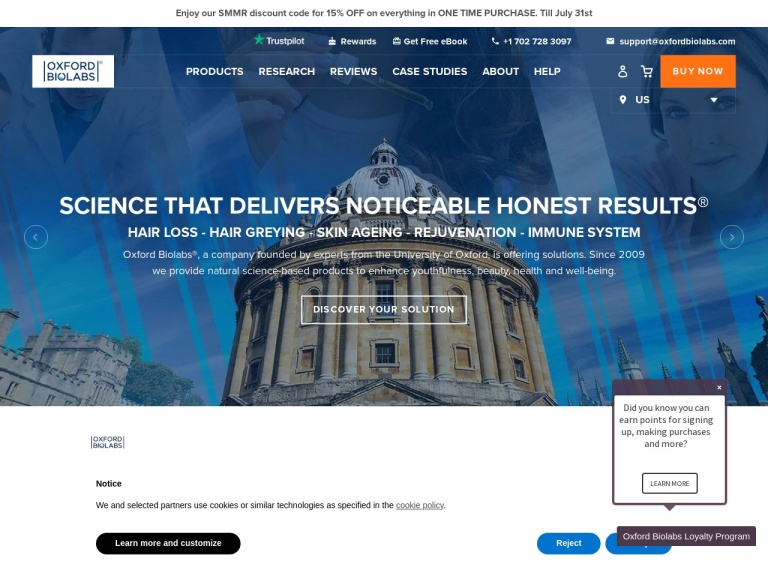 Oxford Biolabs screenshot
