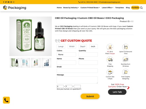 Custom CBD Oil Boxes Packaging Services