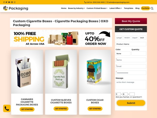 Custom Cigarette Boxes Wholesale USA
