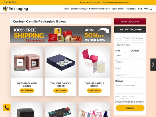Custom Candle Boxes Wholesale – OXO Packaging AU