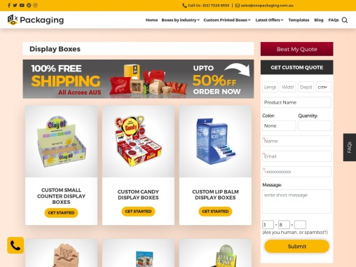 Display Boxes – OXO Packaging AU