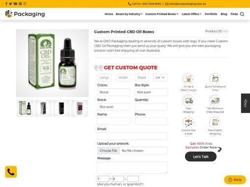 CBD Oil Boxes – OXO Packaging AU