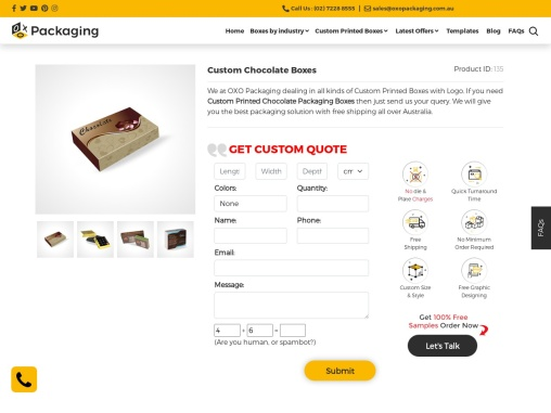 Custom Chocolate Packaging – OXO Packaging AU