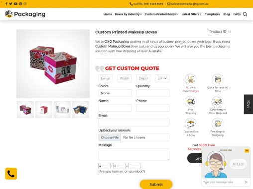 Custom Makeup Boxes – OXO Packaging