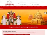 Two days package from Chennai to tirupati by car