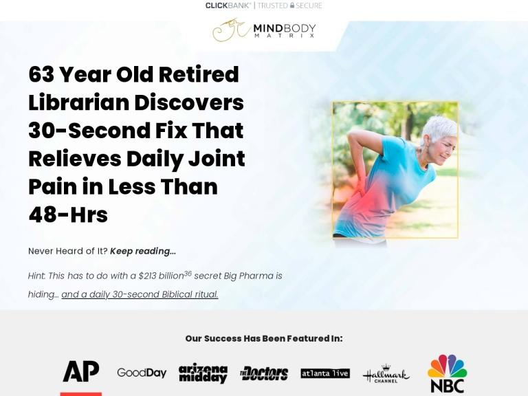 MindBody Matrix Pain Relief Cream screenshot