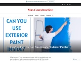 Can You Use Exterior Paint Inside? Exterior Painter
