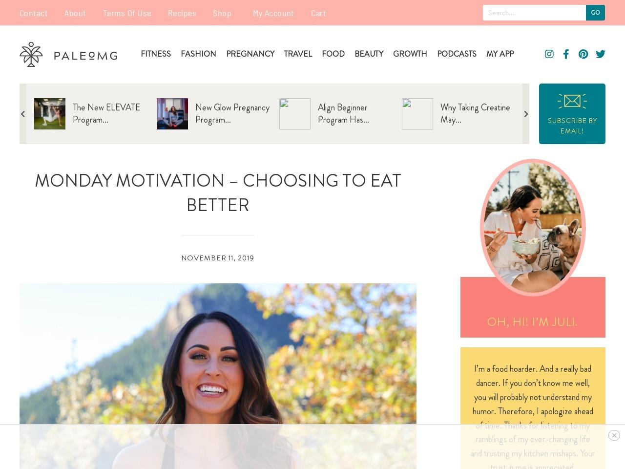 Monday Motivation – Choosing to Eat Better