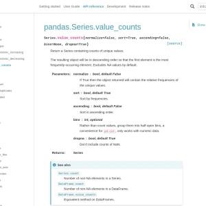 pandas.Series.value_counts — pandas 1.2.4 documentation