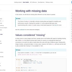 Working with missing data — pandas 1.1.0 documentation