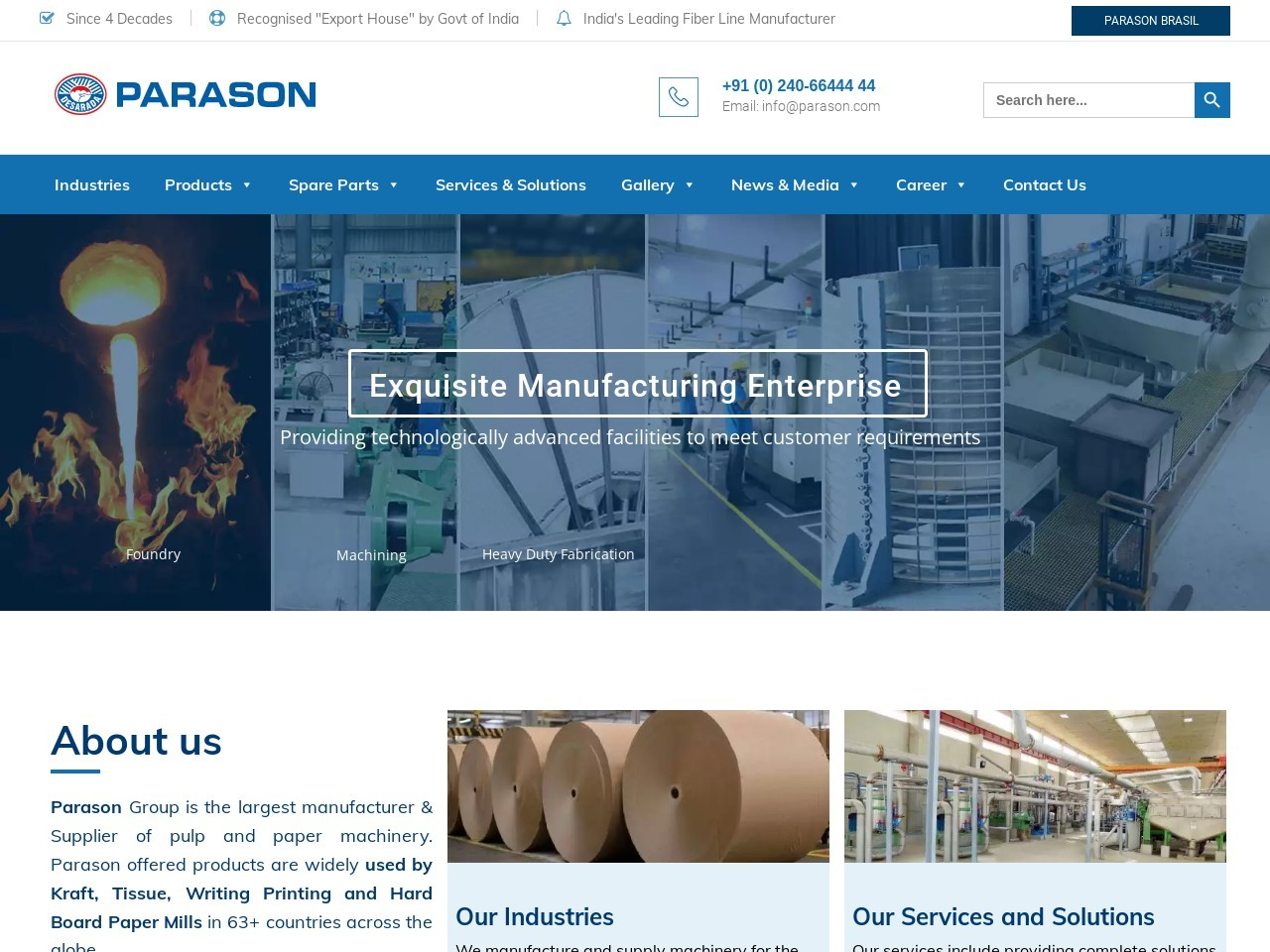 Integrated solution for Molded Fiber Packaging for Paper Mill | Parason