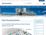 Get High-Performance Paper Recycling Machine | Parason