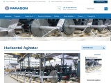 Horizontal Agitator Machine for Pulp & Paper Making Mill | Parason
