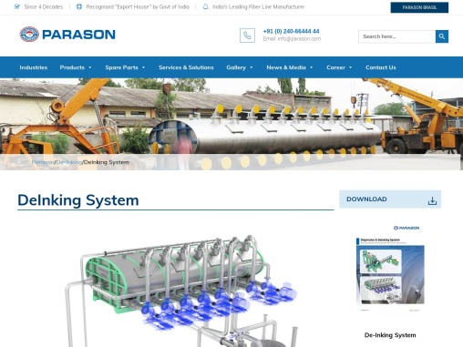 De-Inking System for Pulp Paper Machine | Parason