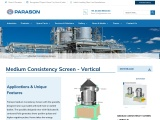 Medium Consistency Screen – Vertical | Parason