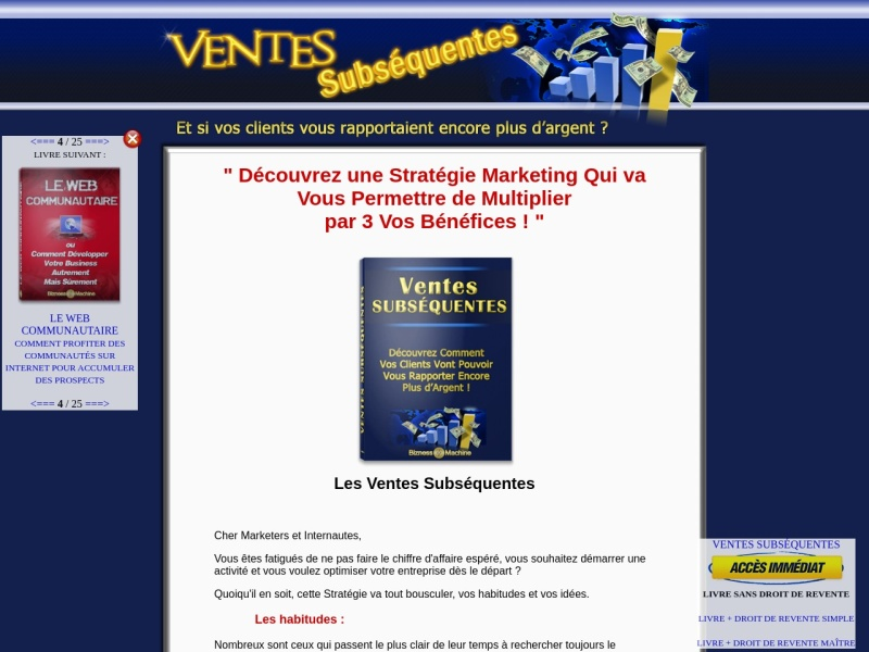 ventes subsequentes