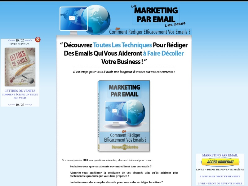 marketing par email + drm