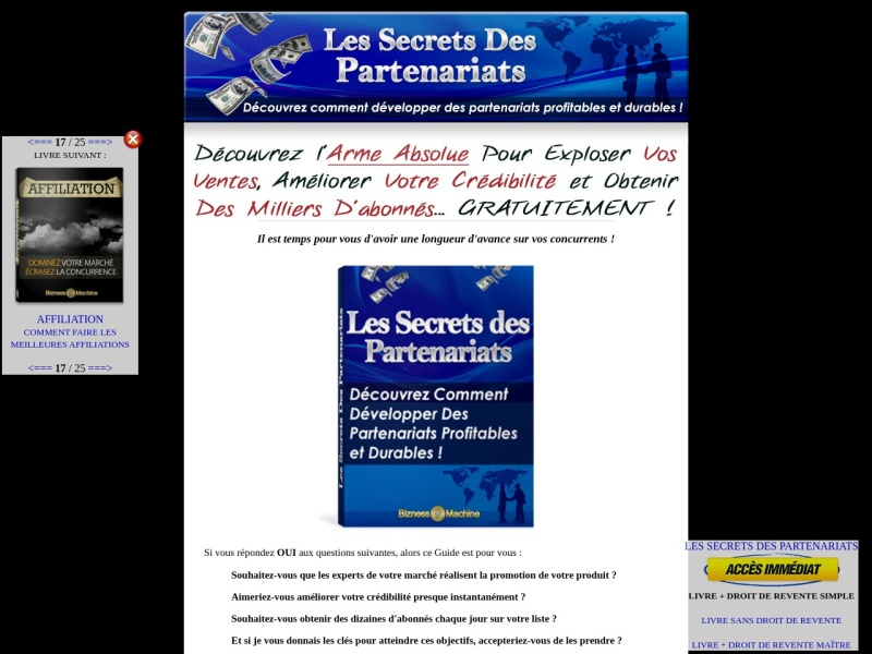 les secrets des partenariats + drs