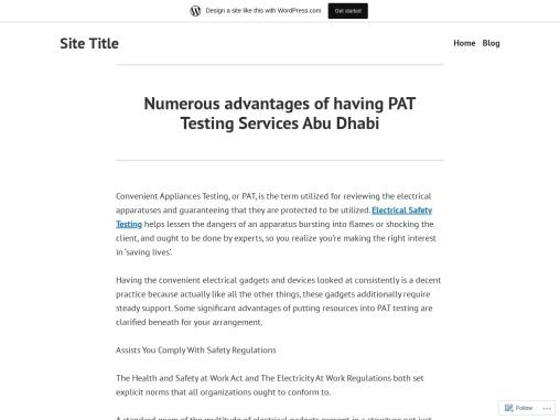 PAT Testing Services Abu Dhabi