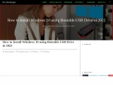 How to install Windows 10 using USB