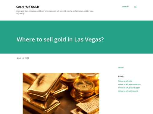 Where to sell gold in Las Vegas?
