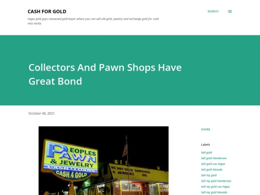 Collectors And Pawn Shops Have Great Bond