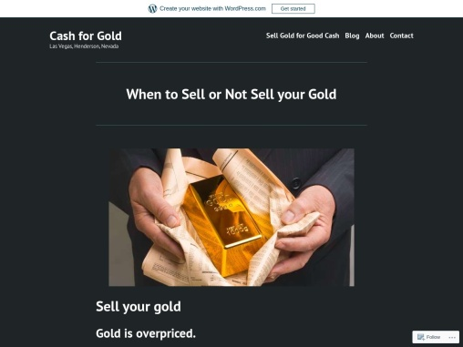 When to Sell or Not Sell your Gold