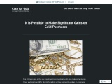 It is Possible to make significant gains on gold purchases