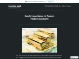 Gold's Importance in Today's Modern Economy