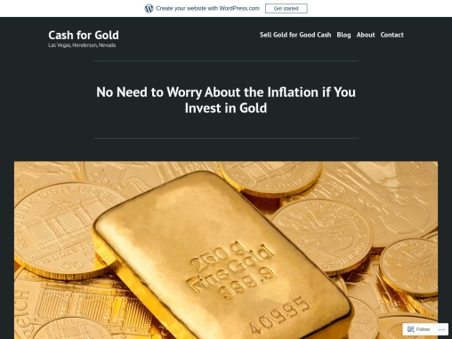 No Need to Worry About the Inflation if You Invest in Gold