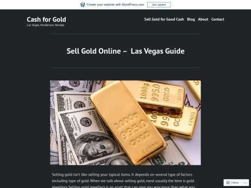Sell Gold Online – Las Vegas Guide